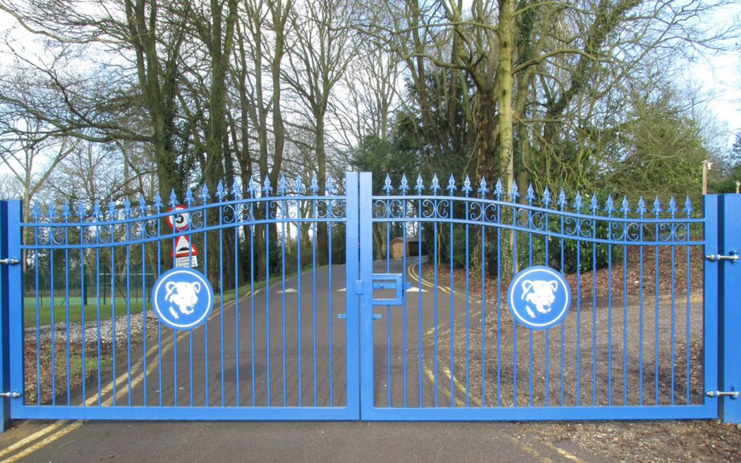New School Gates Blooming in the Surrey Hills.